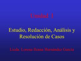 Estudio, Análisis y Resolución de Casos