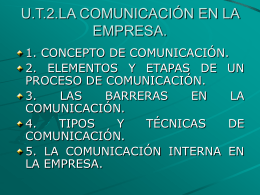 U.T.2.LA COMUNICACIÓN EN LA EMPRESA.
