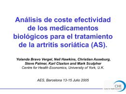 Análisis de coste efectividad de los medicamentos