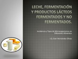 Leche, fermentación y productos lácteos