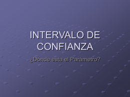 INTERVALO DE CONFIANZA - Páginas Web Educativas ::