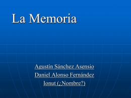 La Memoria - losolivosorientacion