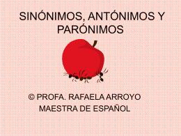EL SINÓNIMO Y EL ANTÓNIMO