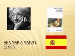 Ana maria matute (1,926
