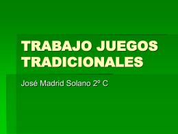 TRABAJO JUEGOS TRADICIONALES