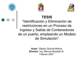 Identificación y Eliminación de restricciones en