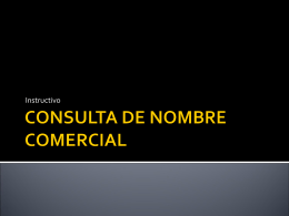 CONSULTA DE NOMBRE COMERCIAL - contableyjuridico -