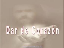 DAR DE CORAZON