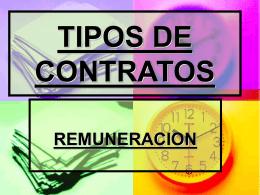 TIPOS DE CONTRATOS - cideca