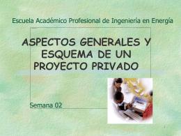 PREPARACION Y FORMULAION DE UN PROYECTO PRIVADO