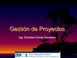 Introducción a la gestión de Proyectos