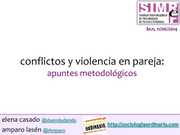conflictos y violencia en pareja: apuntes