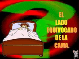 EL LADO EQUIVOCADO DE LA CAMA