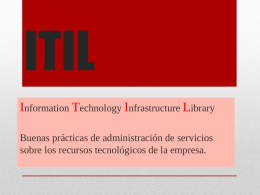 ITIL EN POWER POINT
