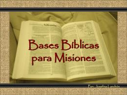 BASES BIBLICAS PARA MISIONES - SIM -