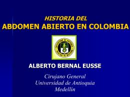 ABDOMEN ABIERTO EN COLOMBIA