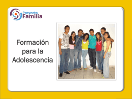 6. Formación para la adolescencia