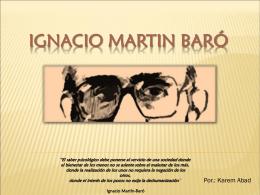 Ignacio Martin Baró y la psicología social de
