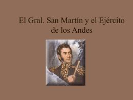 El Gral. San Martin y el Ejército de los Andes