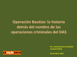 Operación Bautizo: la historia detrás del nombre