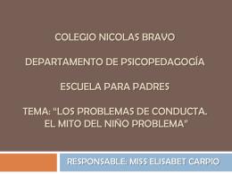 COLEGIO NICOLAS BRAVO DEPARTAMENTO DE