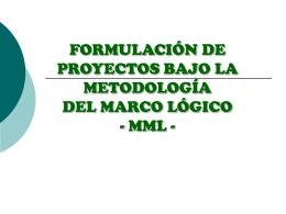 METODOLOGÍA DEL MARCO LÓGICO
