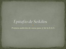 Epitafio a Seikilos