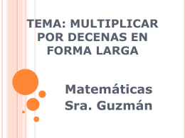 Tema: Multiplicar por decenas