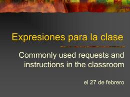 Expresiones para la clase