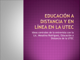 Educación a distancia en la UTEC