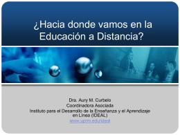 ¿Hacia donde vamos en la Educación a Distancia?