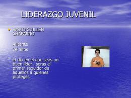 LIDERAZGO JUVENIL - EL BLOG DE INGLADA | Just