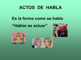 ACTOS DE HABLA - Lenguaje y Comunicación |