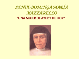 SANTA DOMINGA MARÍA MAZZARELLO