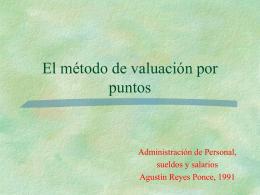 El método de valuación por puntos - GENESIS