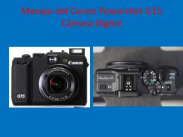 Manejo del Canon Powershot G15 Cámara Digital
