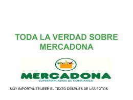 TODA LA VERDAD SOBRE MERCADONA - CNT