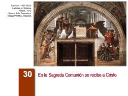 En la Sagrada Comunión se recibe a Cristo