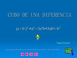 CUBO DE UNA DIFERENCIA