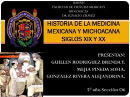 HISTORIA DE LA MEDICINA MEXICANA