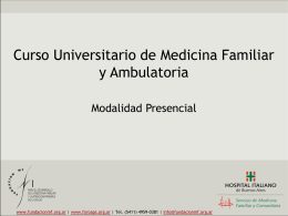 Curso de Medicina Familiar y Ambulatoria -