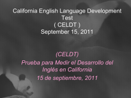 California English Language Development Test (