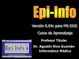 Epi-Info Version 6.04 para DOS