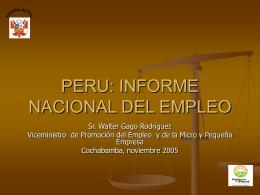 EMPLEO EN EL PERU - Portal de la Comunidad Andina