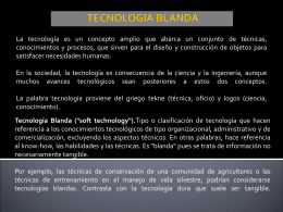TECNOLOGIA BLANDA