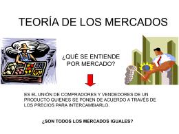 TEORÍA DE LOS MERCADOS