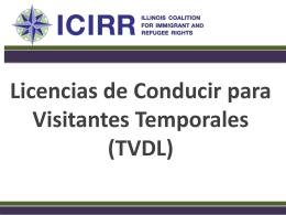 Licencias de Conducir para Visitantes temporales -