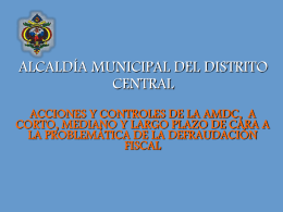 ALCALDIA MUNICIPAL DEL DISTRITO CENTRAL
