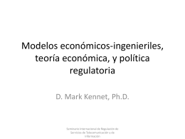 Modelos económicos-ingenieriles, teoría económica,