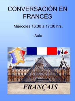 CONVERSACIÓN EN FRANCÉS